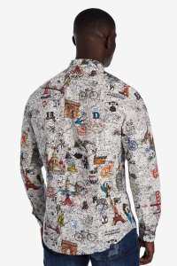 Desigual ZACARIAS cotton shirt. $125.95. FW2019.