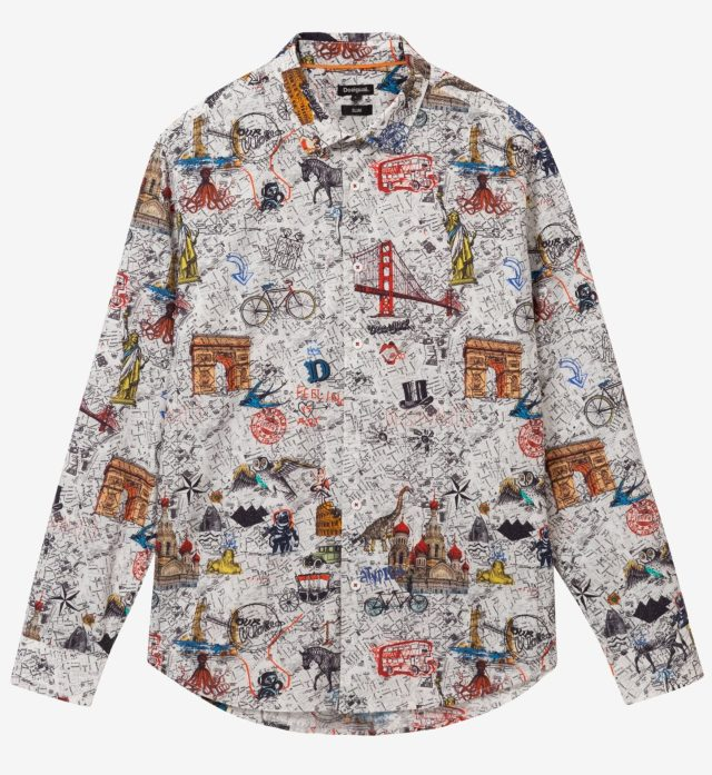 Desigual ZACARIAS cotton shirt FW2019.
