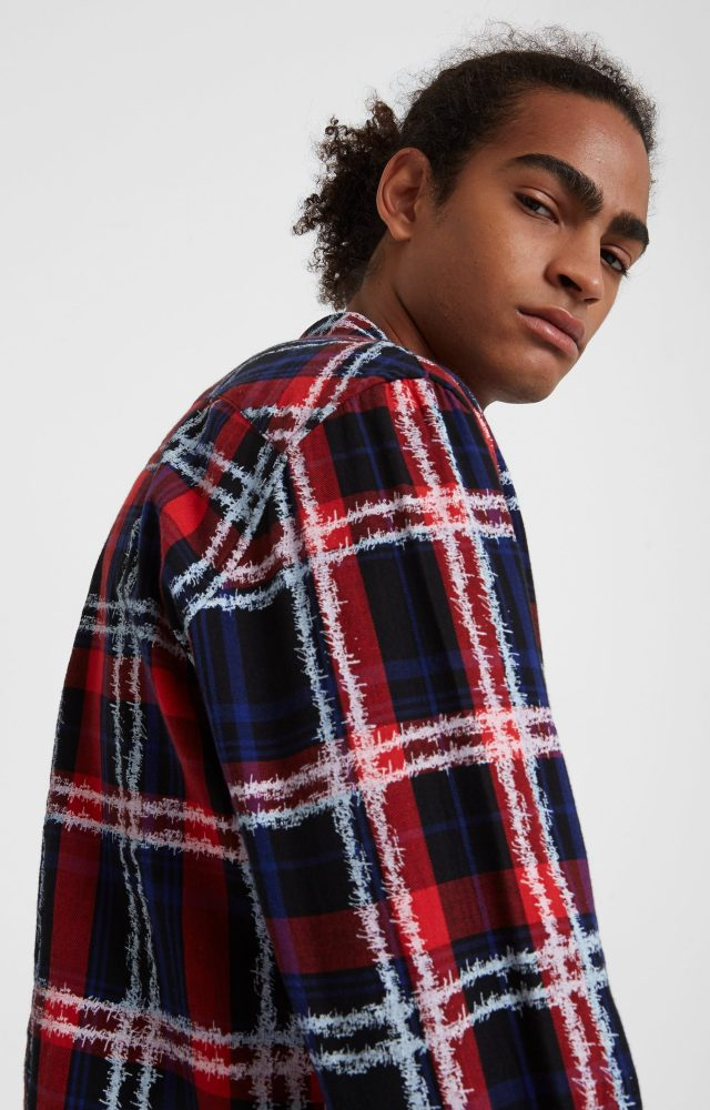 Desigual CLAUDIO checked cotton shirt. $169.95. FW2019.