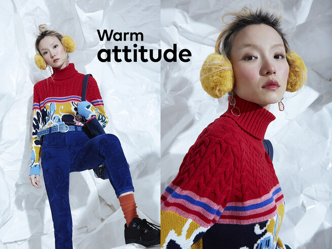 Desigual FLOWERS turtleneck sweater FW2019