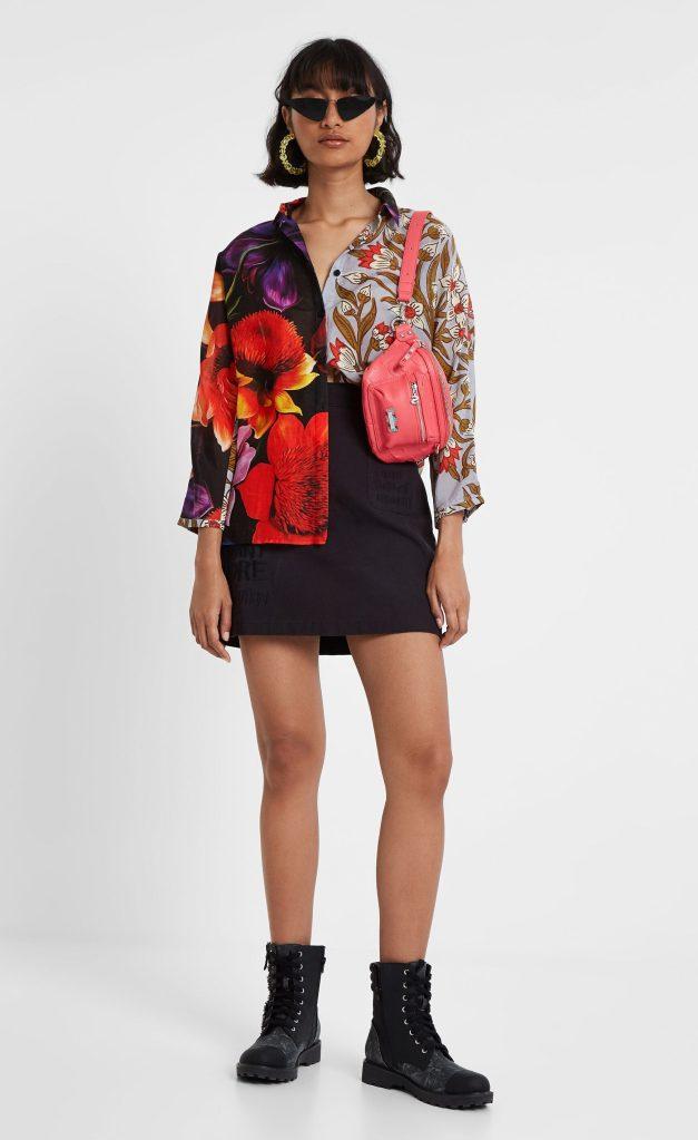Desigual COPENHAGEN asymmetrical blouse by Christian Lacroix. FW2019