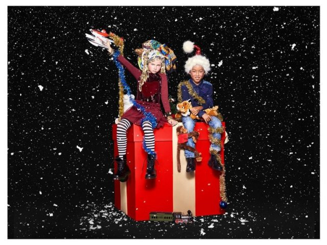 Desigual kids Christmas shopping at Angel