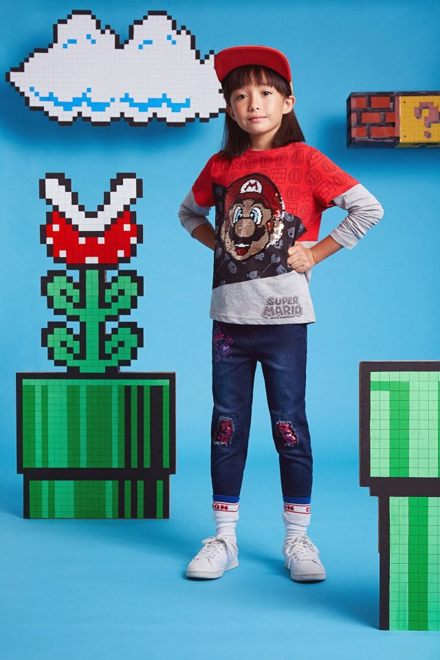 Desigual kids MARIO double-sleeve cotton T-shirt FW21019.