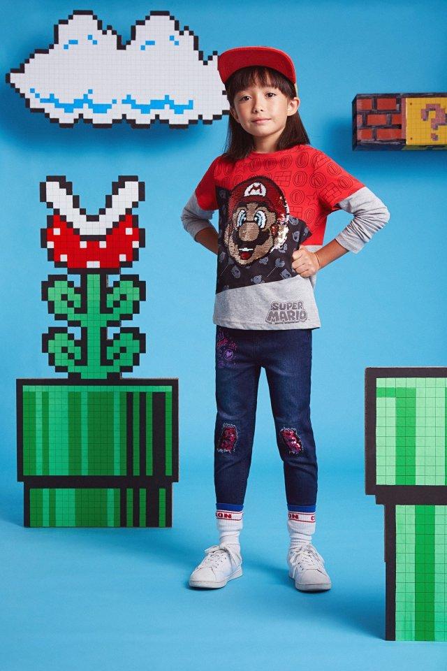 Desigual kids MARIO double-sleeve cotton T-shirt FW21019.