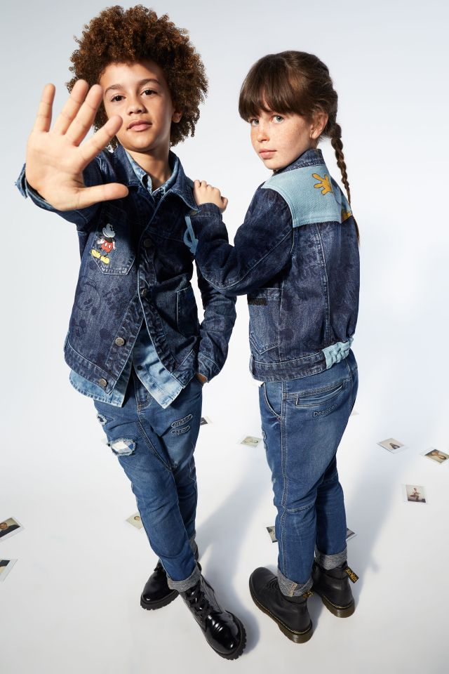 Desigual kids MICKEY MOUSE denim jacket FW2019