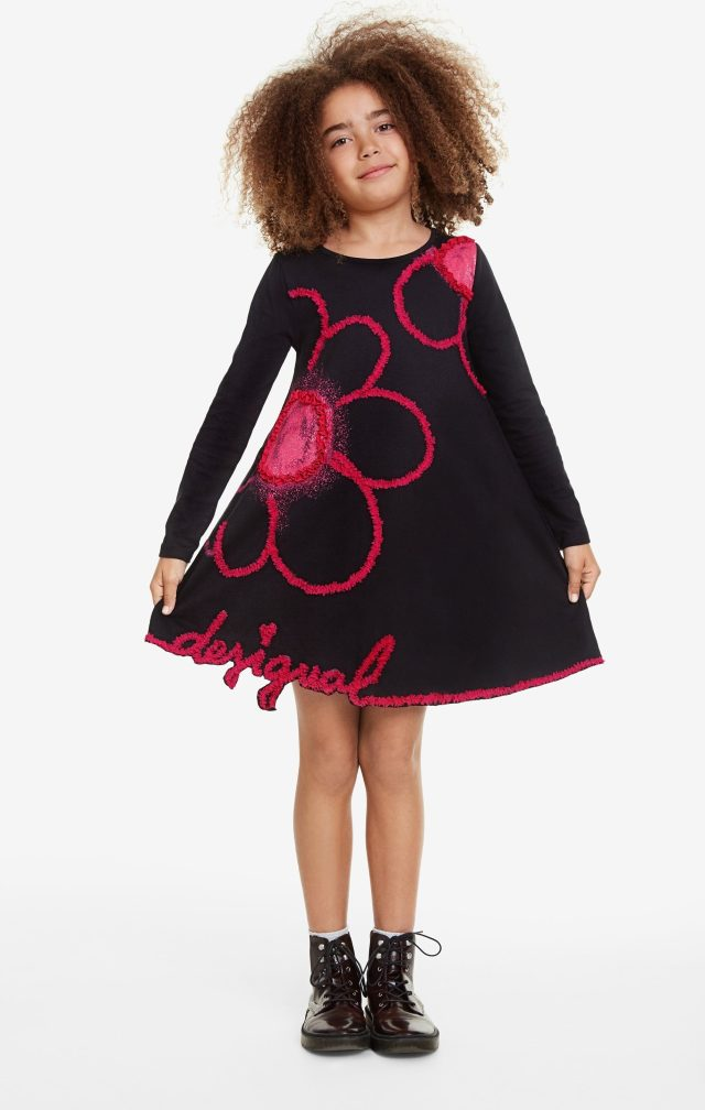 Desigual kids PAPAYA floral dress FW2019