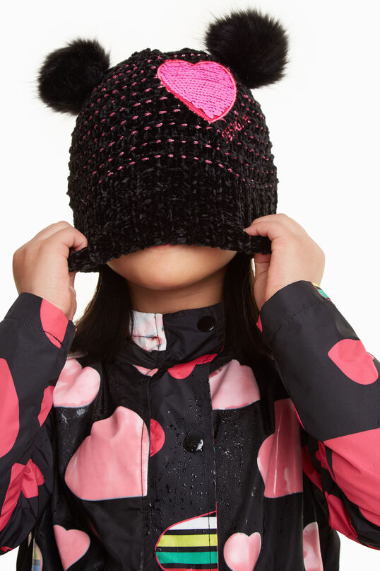 Desigual kids POMO knitted hat