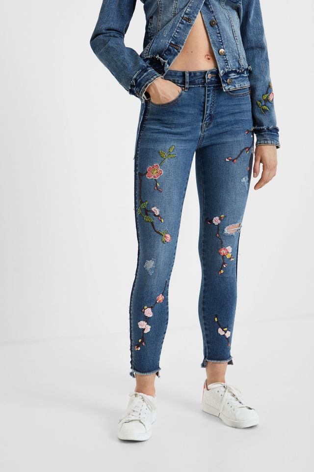 Desigual MIAMI BCN cropped skinny fit jeans FW2019.