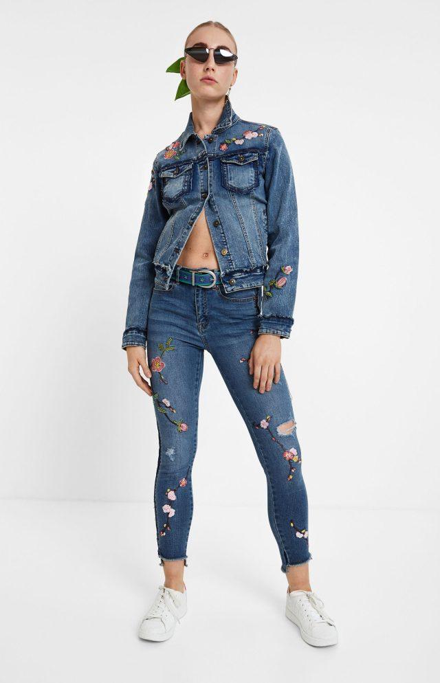 Desigual MIAMI BCN cropped jeans FW2019