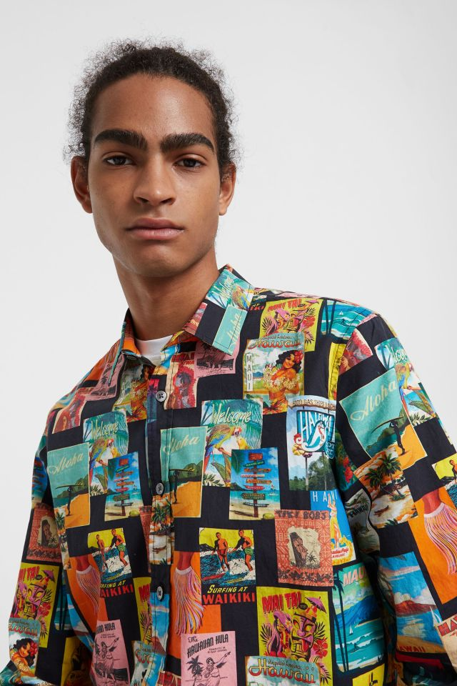 Desigual NEUS vintage Hawaiian postcard shirt FW2019.