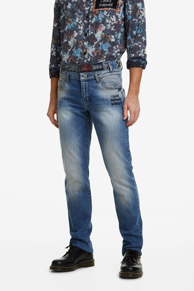 Desigual AITOR double-waist jeans FW2019.