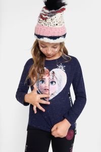 NEW ARRIVAL Desigual kids FROZEN 2 reversible sequins T-shirt