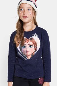 Desigual kids FROZEN 2 reversible sequins T-shirt