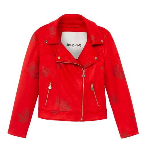Desigual DELAWARE red moto jacket SS2020