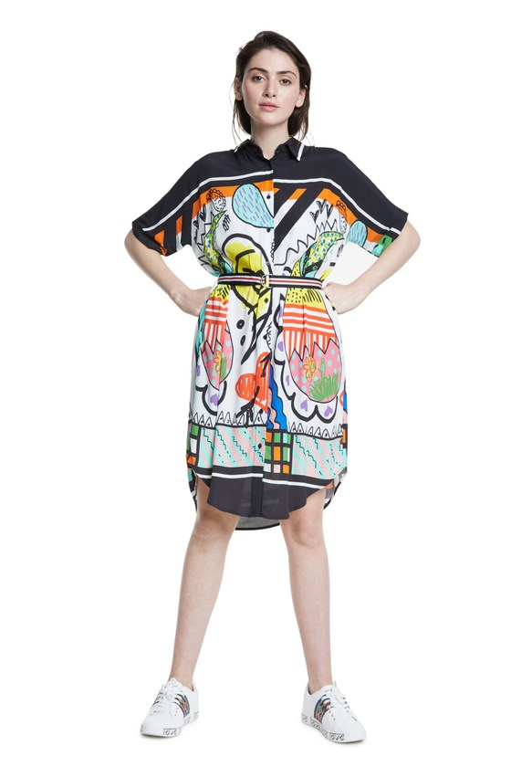 Desigual ARTY dress Made in Morocco SS2020