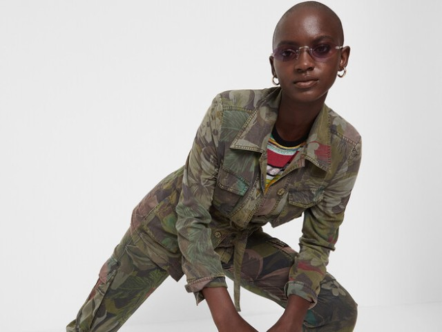 Desigual CAWAII camofloral sahara jacket Spring-Summer 2020 collection.