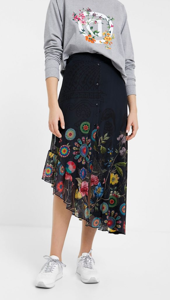 Desigual Coca long flared skirt SS2020