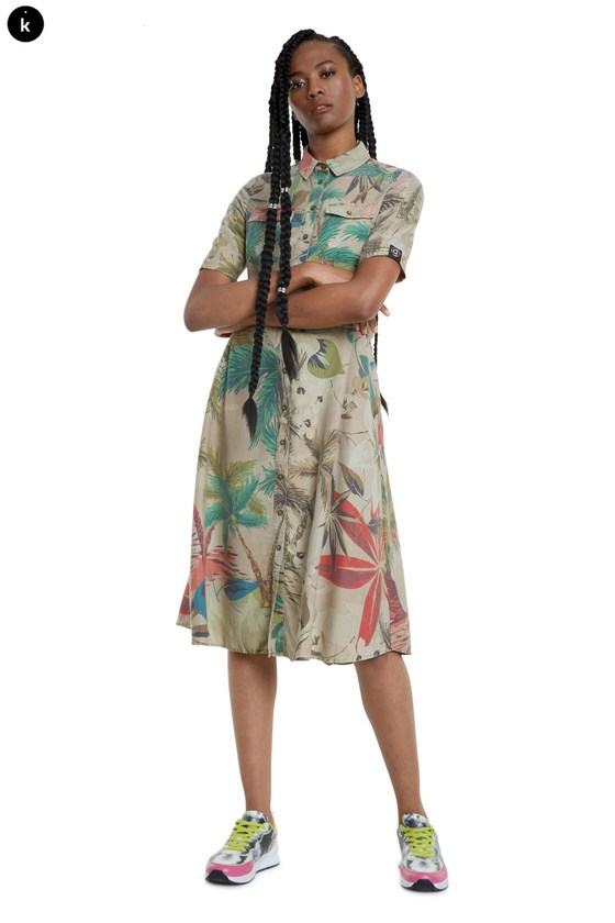 Desigual KATE camoflower dress SS2020