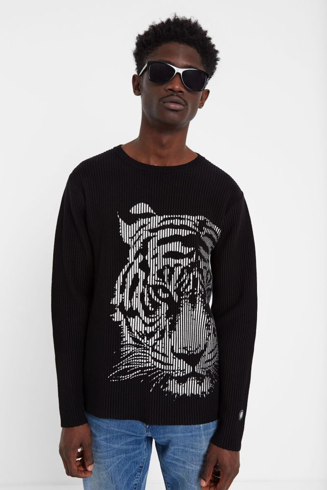 Desigual CALEB ribbed cotton tiger sweater SS2020