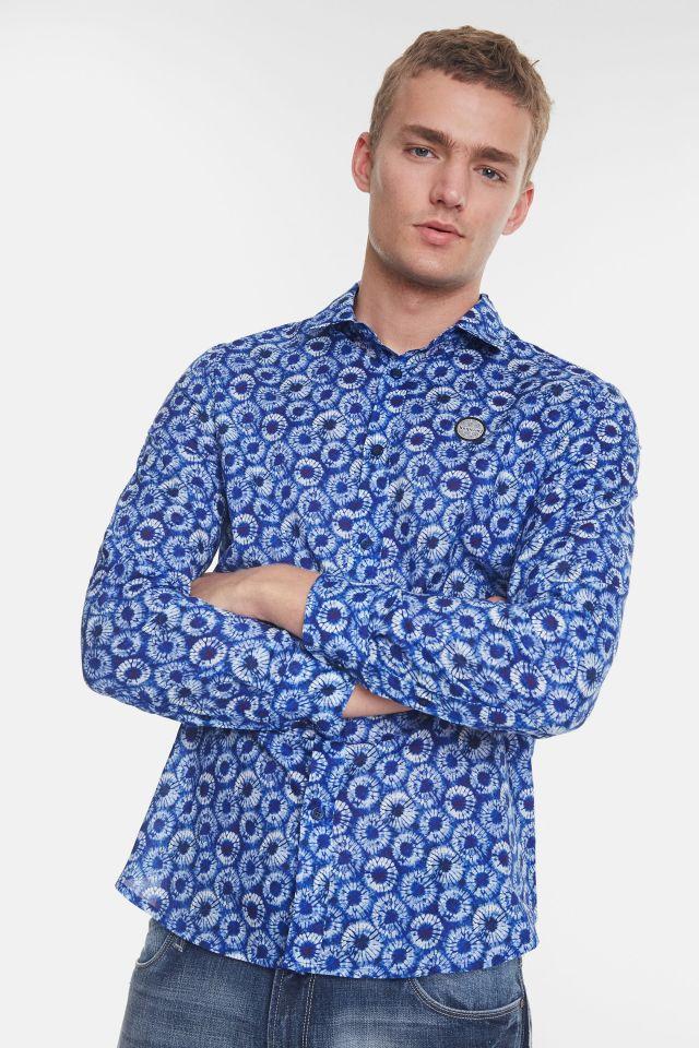Desigual GIDEON microflower cotton shirt SS2020