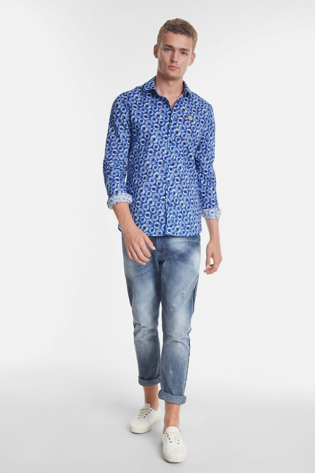 Desigual GIDEON microflower cotton shirt SS2020
