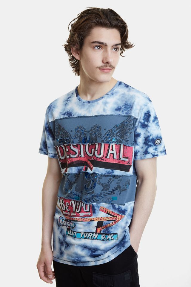 Desigual JUDE hybrid patch 100% cotton T-shirt SS2020