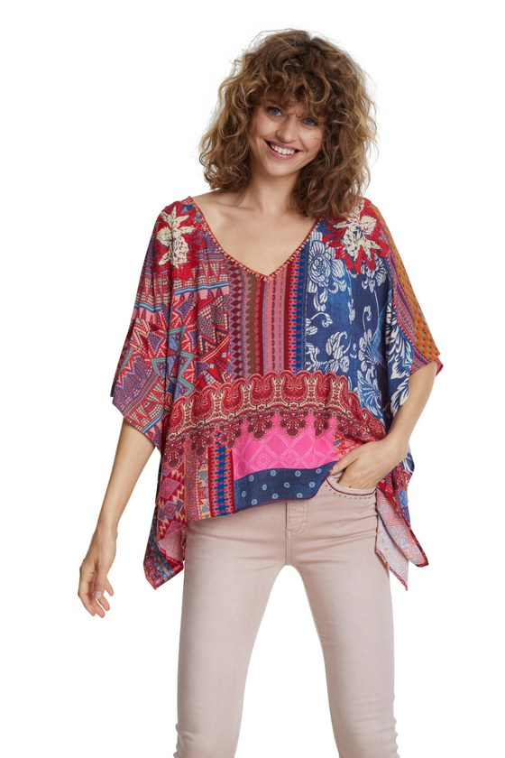 Desigual PERUGIA floral batwing blouse SS2020