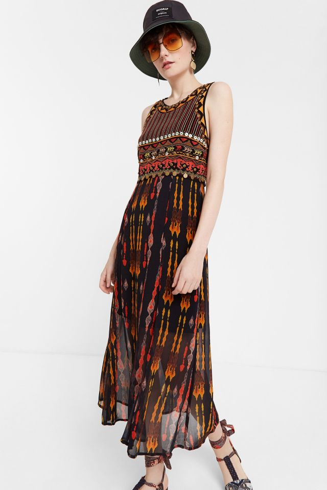 Desigual SIDNEY African-inspired print dress SS2020.