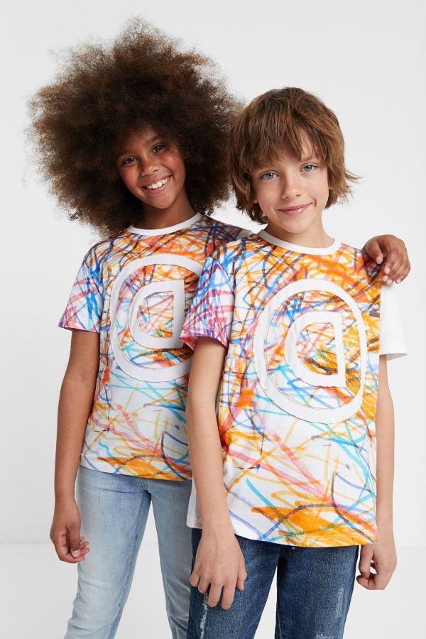 Desigual kids liam multicolour organic cotton T-shirt. $55.95. SS2020.