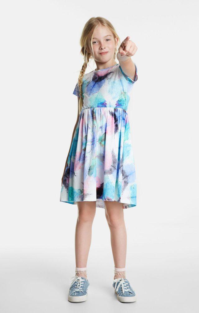 Desigual kids POZA faded tie-dye dress SS2020