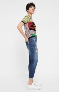 The Desigual LENNON jeans match the Carson denim jacket