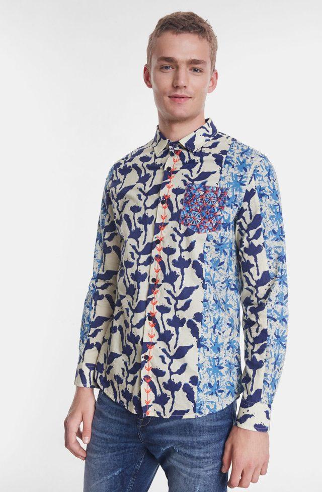 Desigual EAMANUEL organic cotton shirt SS2020