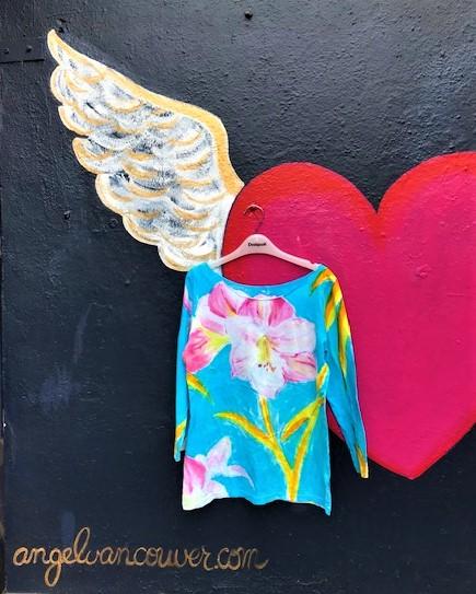 Angel handpainted shirt May 2020