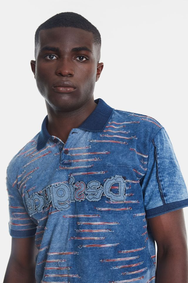 Desigual BEAU jacquard polo shirt. 100% cotton. $149.95. SS2020.