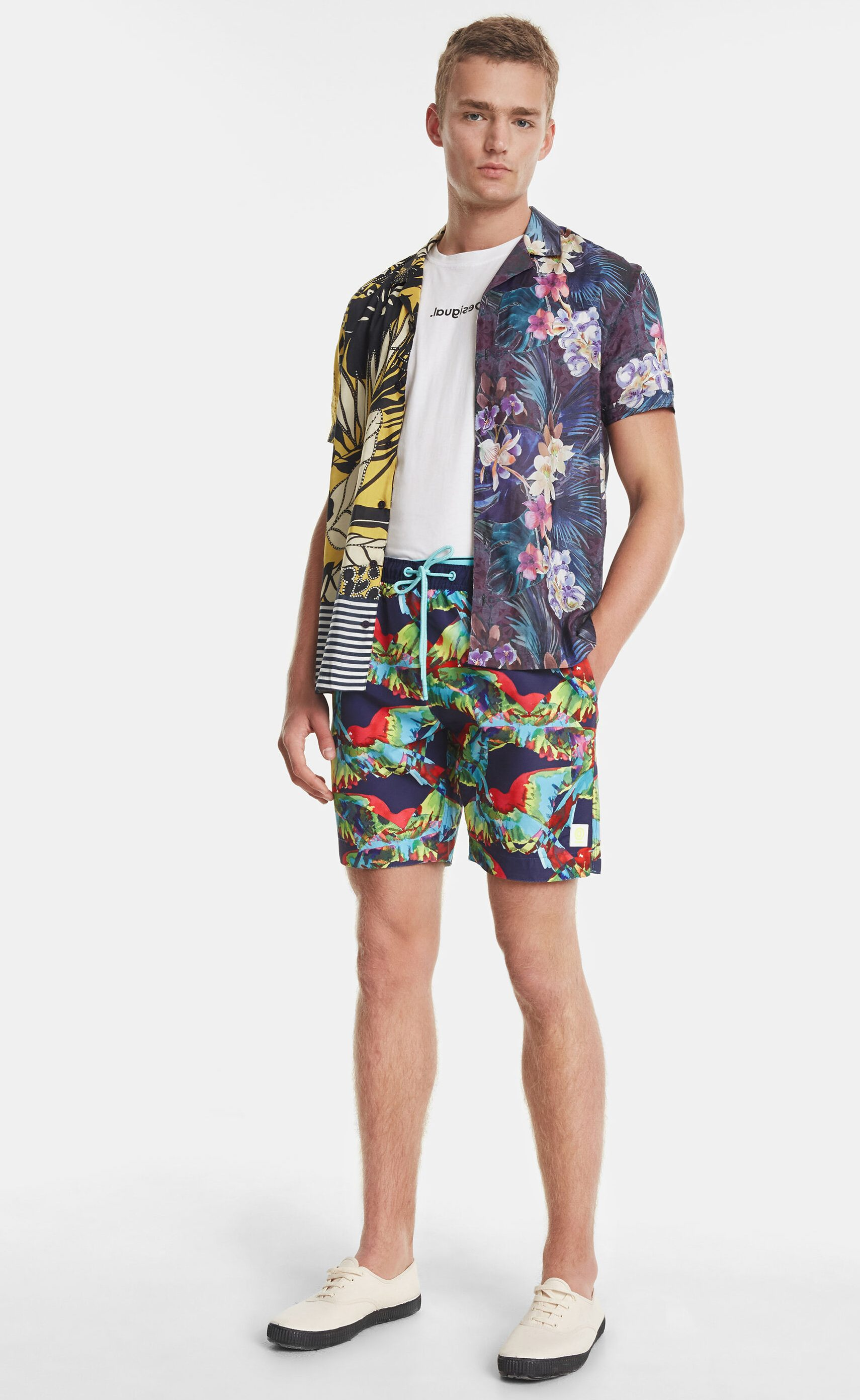 SARA NELL Mens Shorts Floral and Animal African Pattern in Paisley Quick Dry Swim Trunks Beach Board Shorts