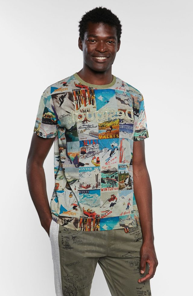 Desigual MAY vintage ski postcard shirt SS2020