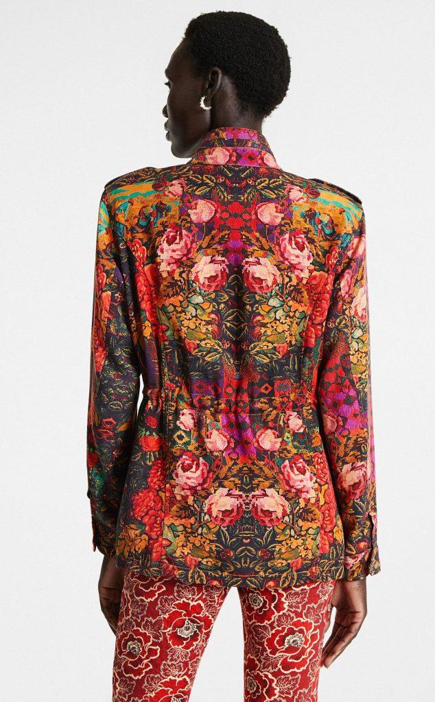 Desigual BRUTAL FLORAL jacket by Lacroix. $309.95. FW2020.