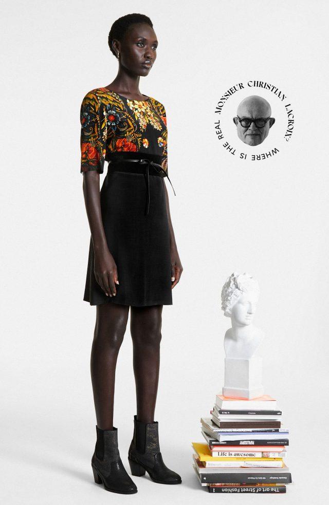 Desigual BUTTERFLOWER dress by Lacroix FW2020.