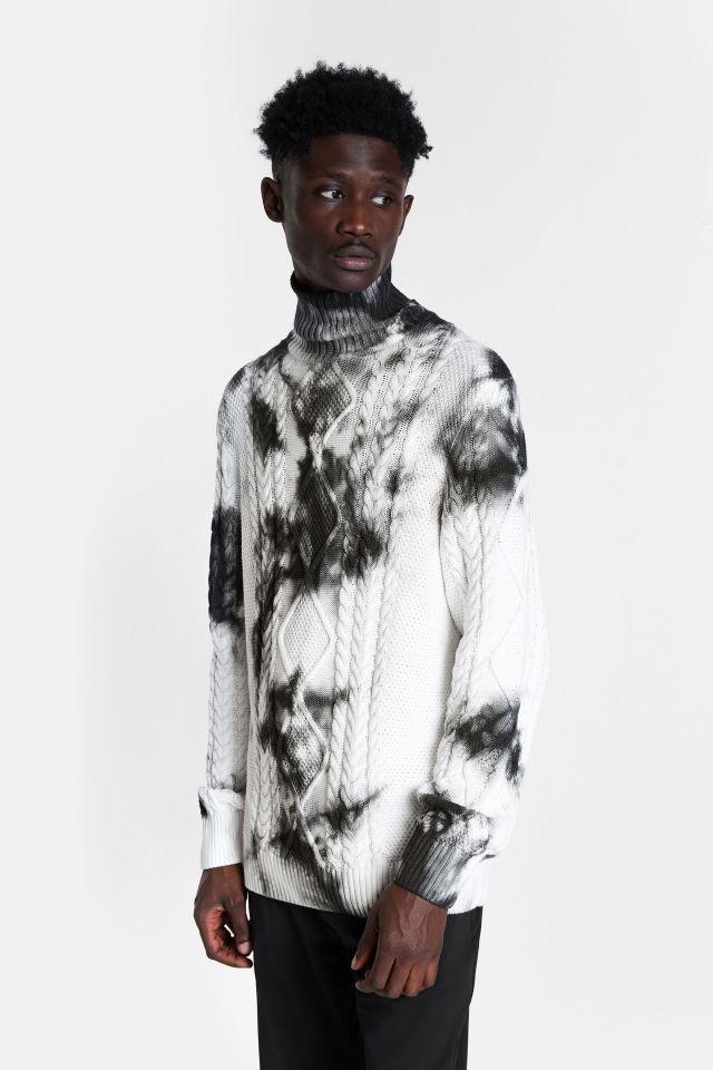 Desigual NED tie-dye cotton turtleneck sweater FW2020