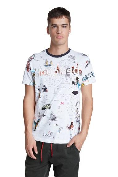 Desigual VICTOR cotton T-shirt. $85,95. FW2020.