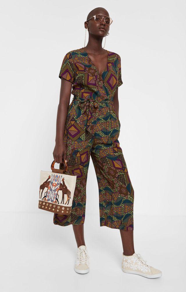 Desigual MITILENE Africa print jumpsuit SS2020