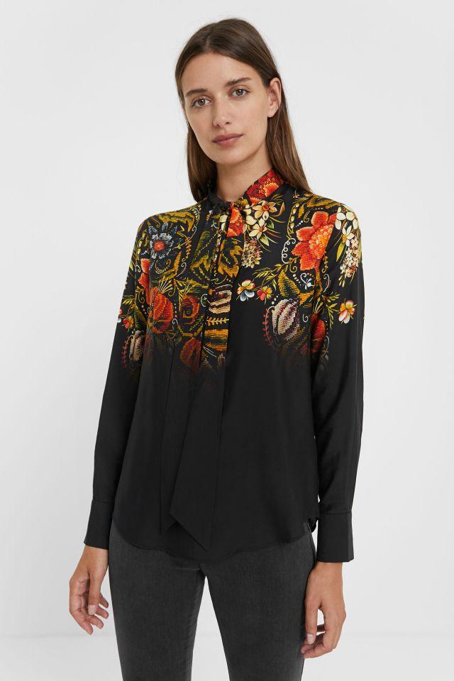 Desigual LAUREN silk blouse by Christian Lacroix FW2020