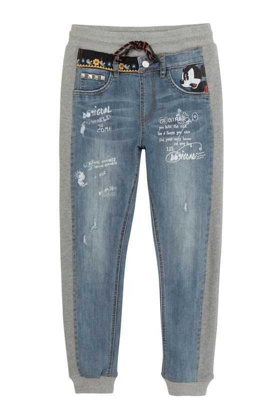 Desigual Mickey Mouse hybrid jeans Summer 2021