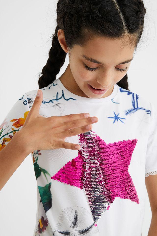 Desigual kids reversible sequins T-shirt Summer 2021