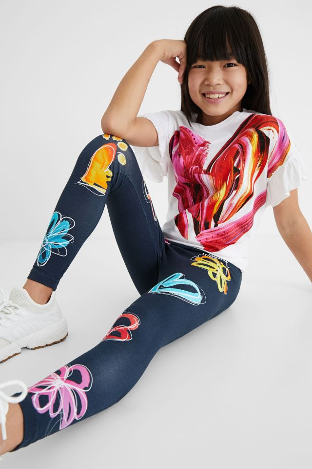 Desigual kids HEART FLOWERS leggings Summer 2021
