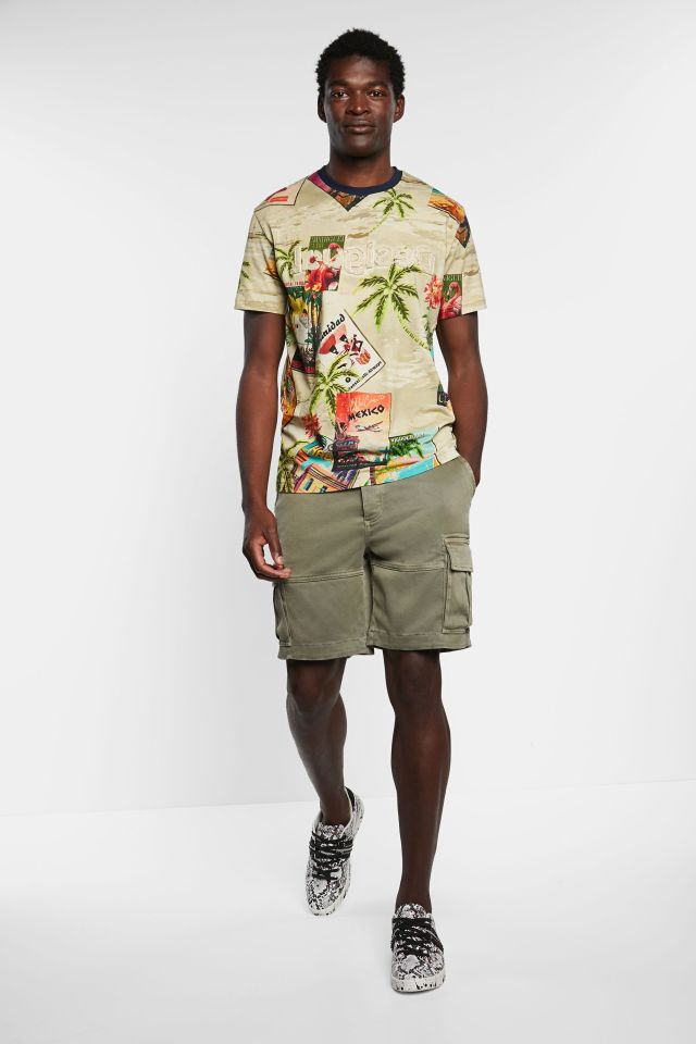 Desigual tropical print T-shirt